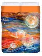 Bubbles In Tumult Duvet Cover