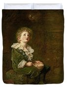 Bubbles Duvet Cover by Sir John Everett Millais