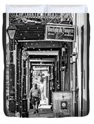 Bubbly French Quarter - Bw Duvet Cover