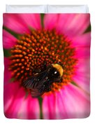 Bumble On A Pistil Duvet Cover