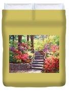 Buchart Garden Stairway Duvet Cover