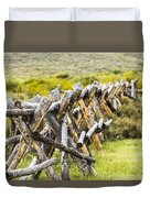 Buck And Rail Fence In The High Country Duvet Cover