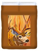 Buck In Fiery Sunset Duvet Cover