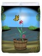 Bucket Butterfly Duvet Cover