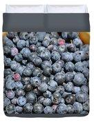 Bucket Of Blueberries Duvet Cover