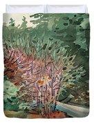 Buckeye And Redwoods Duvet Cover