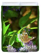 Buckeye Butterfly On The Move 1 Duvet Cover