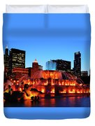 Buckingham Fountain Duvet Cover