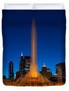 Buckingham Fountain Nightlight Chicago Duvet Cover