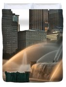 Buckingham Fountain Sidelight  Duvet Cover