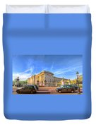 Buckingham Palace And London Taxis Duvet Cover