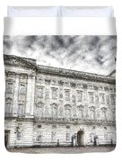 Buckingham Palace London Snow Duvet Cover
