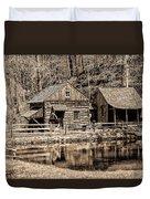 Bucks County - Cuttalossa Mill In Sepia Duvet Cover