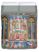 Bucovina Monastery Fresco Duvet Cover