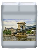 Budapest - Chain Bridge Duvet Cover