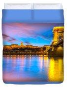 Budapest - Chain Bridge And Buda Castle -  Hungary Duvet Cover