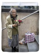 Budapest Flower Woman Duvet Cover