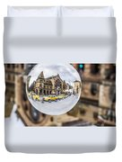 Budapest Globe - Great Market Hall Duvet Cover