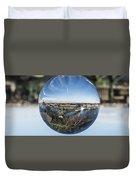 Budapest Globe - Liberty Bridge Duvet Cover
