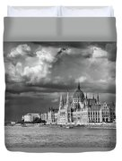 Budapest Parliament From The Chain Bridge Duvet Cover