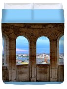 Budapest Parliament From The Fishermans Bastion Duvet Cover