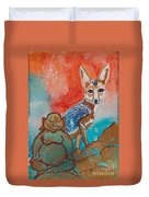 Buddha And The Divine Kit Fox No. 1373 Duvet Cover
