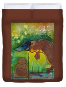 Buddha And The Divine Platypus No. 1375 Duvet Cover