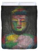 Buddha Encaustic Painting Duvet Cover