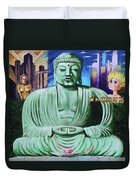 Buddha In The Metropolis Duvet Cover