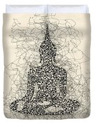 Buddha Pen And Ink Drawing Duvet Cover