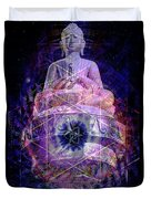 Buddha Spinning In A Merkaba Duvet Cover