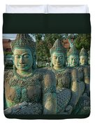 Buddhas All In A Row Duvet Cover