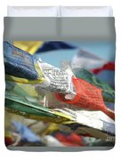 Buddhist Prayer Flags Duvet Cover