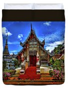 Buddhist Temples In Chiang Mai Duvet Cover