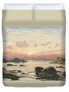 Bude Sands At Sunset Duvet Cover by John Brett