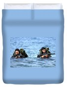 Buds Students Wade Ashore During An Duvet Cover