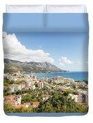 Budva Along The Adriatic Sea In Montenegro Duvet Cover