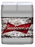 Budweiser Wood Art 5a Duvet Cover