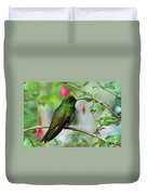 Buff-tailed Coronet Duvet Cover