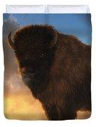 Buffalo At Dawn Duvet Cover
