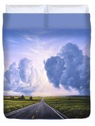 Buffalo Crossing Duvet Cover by Jerry LoFaro