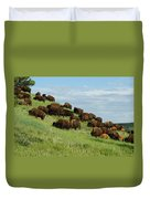 Buffalo Herd Duvet Cover