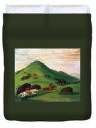 Buffalo Hunt, 1830s Duvet Cover