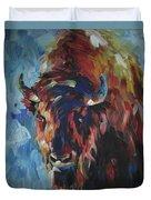 Buffalo In Blue Duvet Cover