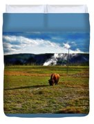 Buffalo In Yellowstone Duvet Cover
