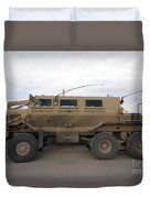 Buffalo Mine Protected Vehicle Duvet Cover by Terry Moore