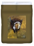 Buffalo Shaman Duvet Cover by J W Baker