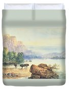 Buffalo Watering Duvet Cover