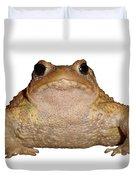 Bufo Bufo European Toad Isolated Duvet Cover