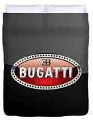 Bugatti - 3 D Badge On Black Duvet Cover